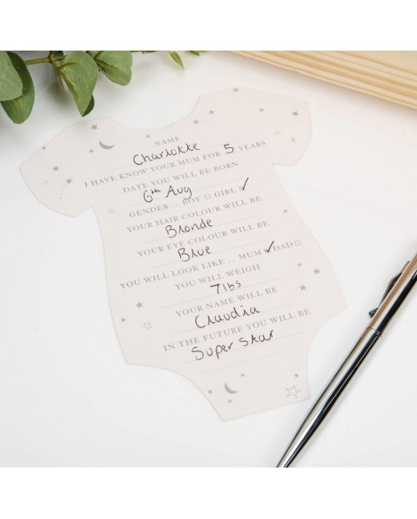 Baby Shower Predictions Cards Pack  8