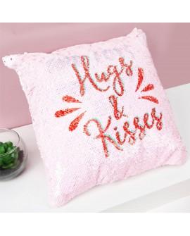 Valentine's Day Pink Cushion Sequin
