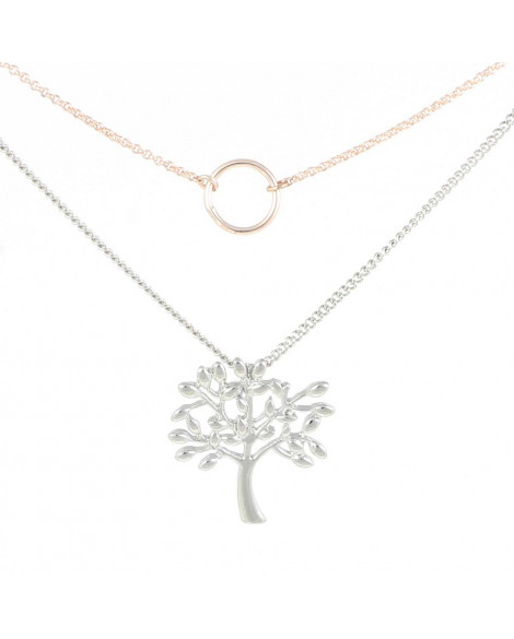 Lila Tree of Life Double Necklace 2 Tone
