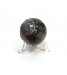 FLUORITE GEMSTONE SPHERE + STAND - SMALL
