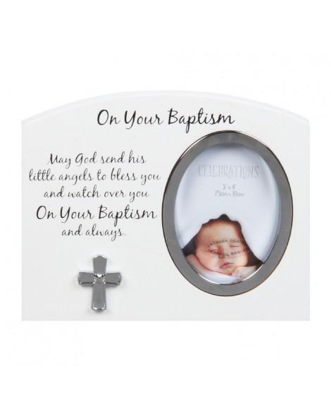 Baptism Photo Frame White