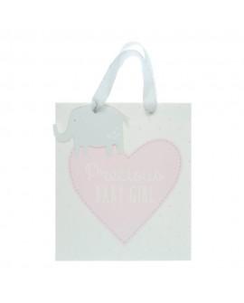 Baby Girl Medium Gift Bag Pink