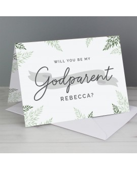 Personalised Godparent  Inviattion Card