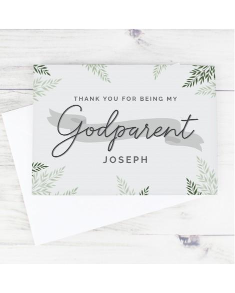 Personalised Godparent  Inviattion Card