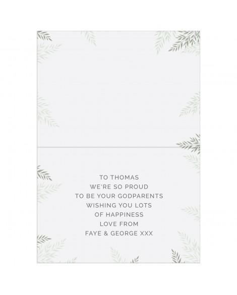 Personalised Baptism Card