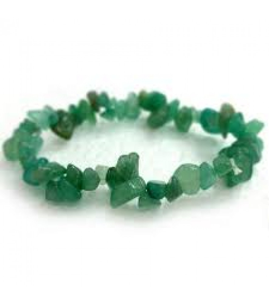 GREEN AVENTURINE CHIP BRACELET GEMSTONE