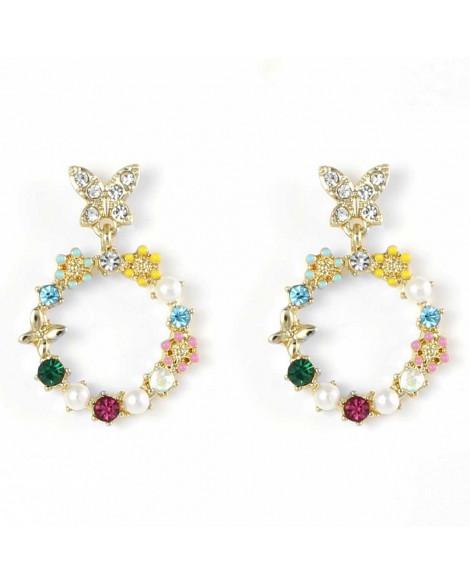 Lila Raindrop Earrings