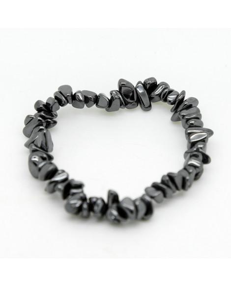 Hematite Gemstone Chip Bracelet