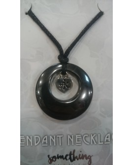 HEMATITE GEMSTONE PENDANT NECKLACE