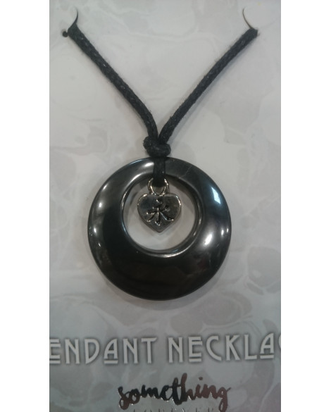 Hematite Gemstone Pendant Necklace