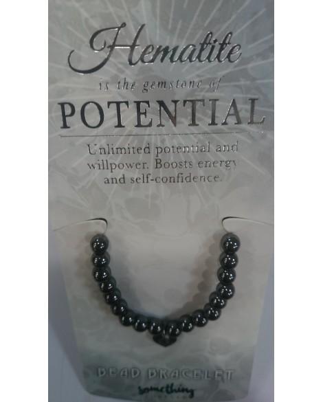 Hematite Charm Bracelet With Beads