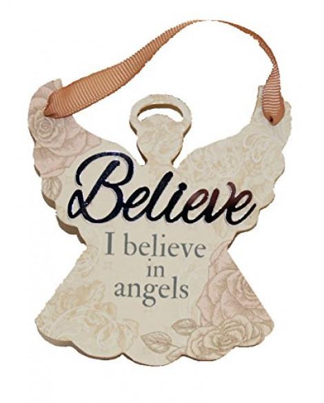 H&H Sentiment Angel Plaque Believe
