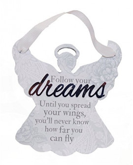 H&H Sentiment Angel Plaque Follow Your Dreams