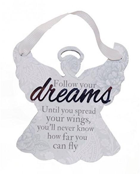 H&H Sentiment Angel Plaque Follow Your Dreams