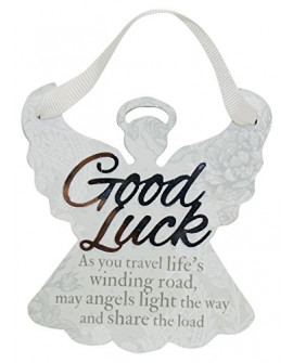 H&H Sentiment Angel Plaque Good Luck
