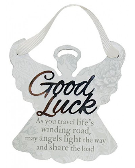 H&H Sentiment Angel Plaque Good Luck