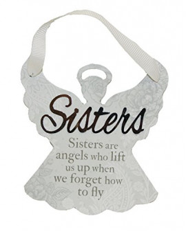 H&H Sentiment Angel Plaque Sisters