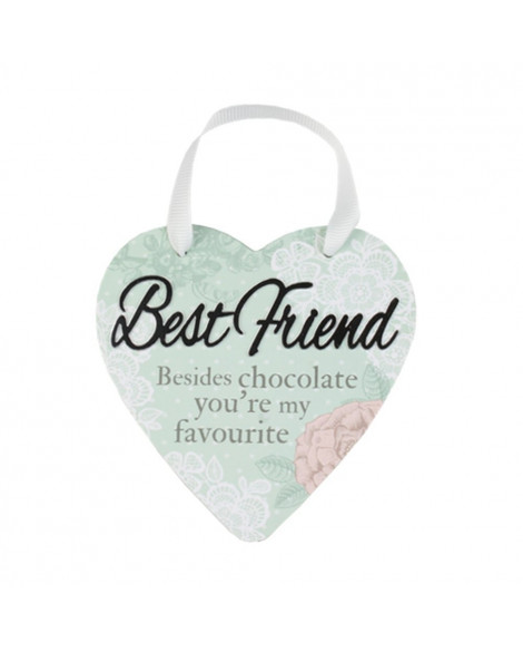 H&H Sentiment Heart Plaque Best Friend