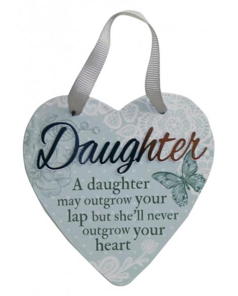 H&H Sentiment Heart Plaque Daughter