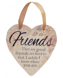 H&H Sentiment Heart Plaque Friends