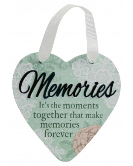 H&H Sentiment Heart Plaque Memories