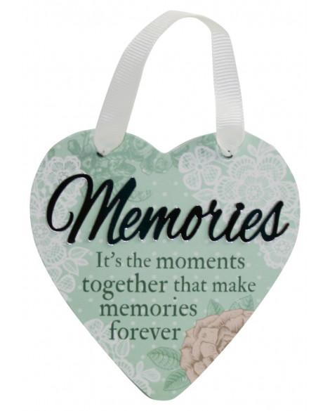 H&H Sentiment Heart Plaque Memories
