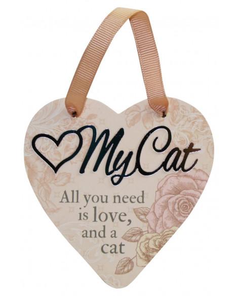 H&H Sentiment Heart Plaque My Cat