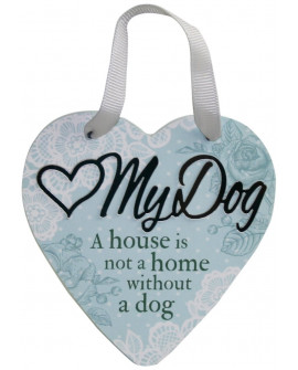 H&H Sentiment Heart Plaque My Dog