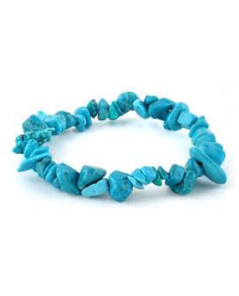 Howlite Turquoise Gemstone Chip Bracelet
