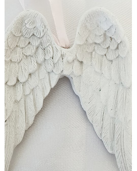 ANGEL WINGS WALL PLAQUE WHITE