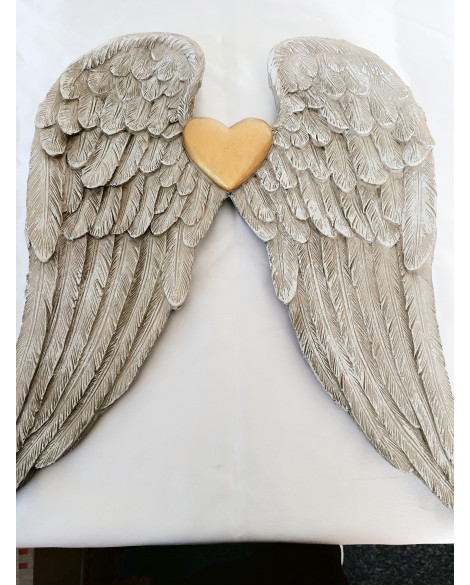 ANGEL WINGS WALL PLAQUE SHABBY CHIC
