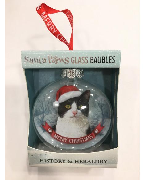 Christmas Tree Decoration Personalised Tuxedo Cat