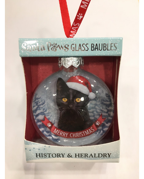 Christmas Tree Decoration Personalised Black Cat