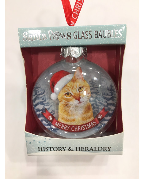 Christmas Tree Decoration Personalised Ginger Cat