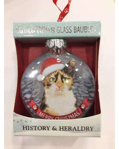 CHRISTMAS TREE DECORATION PERSONALISED CALICO CAT