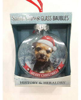 CHRISTMAS TREE DECORATION PERSONALISED DOG BORDER TERRIER