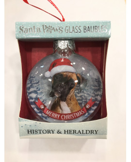 CHRISTMAS TREE DECORATION PERSONALISED DOG BOXER