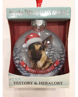 CHRISTMAS TREE DECORATION PERSONALISED DOG GERMAN SHEPHERD
