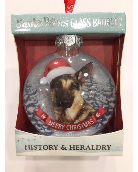 Christmas Tree Decoration Personalised Dog German Sheperd