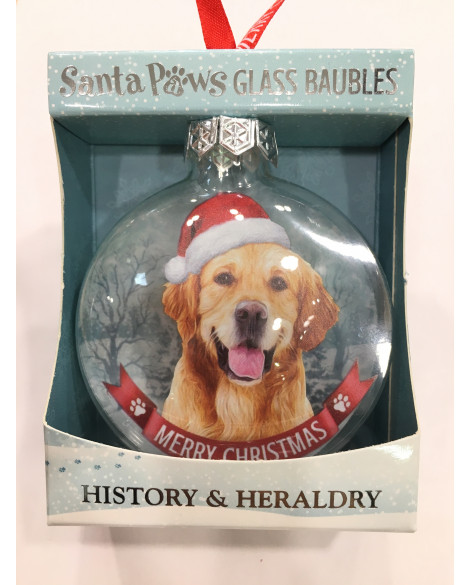CHRISTMAS TREE DECORATION PERSONALISED DOG GOLDEN RETRIEVER