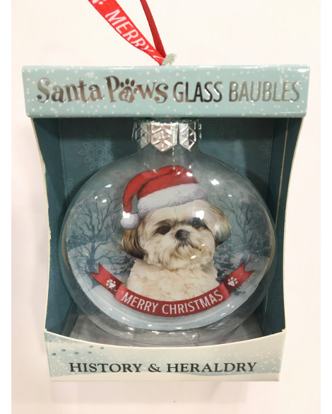 Christmas Tree Decoration Personalised Dog Shih Tzu
