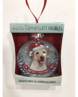 Christmas Tree Decoration Personalised Dog Labrador Yellow