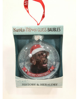 CHRISTMAS TREE DECORATION PERSONALISED DOG LABRADOR CHOCOLATE