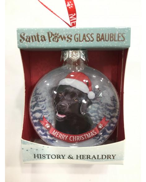 CHRISTMAS TREE DECORATION PERSONALISED DOG LABRADOR BLACK