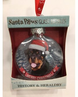 Christmas Tree Decoration Personalised Dog Rottweiler