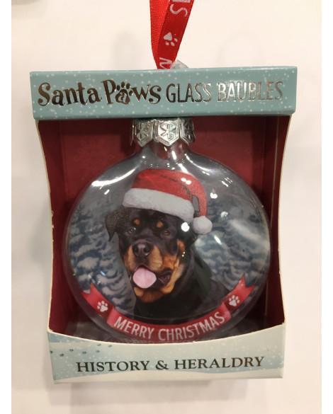 CHRISTMAS TREE DECORATION PERSONALISED DOG ROTTWEILER