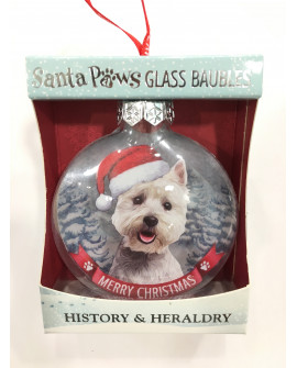 Christmas Tree Decoration Personalised Dog West Highland Terrier