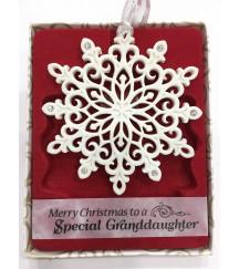 Christmas Tree Decorations with Crystals from SWAROVSKI® Xmas Keepsake SPECIAL GRANDDAUGHTER