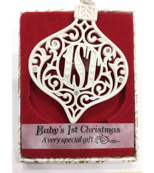 CHRISTMAS TREE DECORATIONS with CRYSTALS FROM SWAROVSKI® BABY 1ST CHRISTMAS