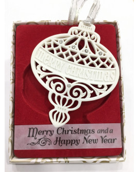 CHRISTMAS TREE DECORATIONS with CRYSTALS FROM SWAROVSKI® MERRY CHRISTMAS